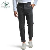Casual pants SANTA BARBARA POLO & racket club / St. Paul Business gentleman trousers Other leisure Straight cylinder Business Casual Straight cylinder Cotton 98.4% polyurethane elastic fiber (spandex) 1.6% Spring 2015