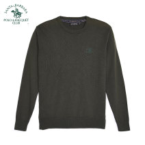 T-shirt / sweater SANTA BARBARA POLO & racket club / St. Paul Fashion City K9 Navy Y8 grey P5 army green 46 48 50 52 54 56 routine Socket Crew neck Long sleeves PW18KS151 autumn Straight cylinder Cotton 91.9% Cashmere 7.3% wool 0.8% leisure time Business Casual middle age routine Summer of 2018