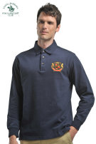 T-shirt Business gentleman routine 56 46 48 50 52 54 SANTA BARBARA POLO & racket club / St. Paul Long sleeves Lapel easy Other leisure autumn Cotton 100% middle age Autumn 2016