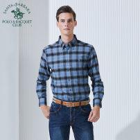 shirt Business gentleman SANTA BARBARA POLO & racket club / St. Paul routine Button collar Long sleeves standard Other leisure Autumn 2016