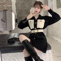 Dress Autumn 2020 Picture color S,M,L Short skirt singleton  Long sleeves commute High waist 18-24 years old Korean version