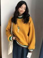 Sweater / sweater Autumn of 2018 Red, yellow, black Average size Long sleeves routine Socket singleton  thickening Crew neck easy commute routine character 18-24 years old 51% (inclusive) - 70% (inclusive) Other / other Korean version cotton 5752# Embroidery cotton