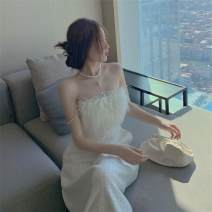 Dress Autumn 2020 Picture color M, S Mid length dress singleton  Sleeveless commute High waist Solid color Socket A-line skirt other camisole 18-24 years old Type A Other / other Korean version