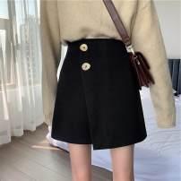 Lace / Chiffon Winter of 2019 Black, brown S,M,L commute Solid color 18-24 years old zipper Korean version 31% (inclusive) - 50% (inclusive)