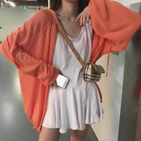 short coat Autumn of 2019 Average size White, purple, fluorescent green, blue, orange, bottomed vest skirt Long sleeves routine routine Two piece set commute zipper 18-24 years old Other / other 81% (inclusive) - 90% (inclusive) other