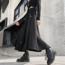 skirt Summer 2020 Average size black Mid length dress commute High waist 18-24 years old 51% (inclusive) - 70% (inclusive) brocade Other / other Korean version