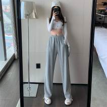 Casual pants Gray, black Average size Autumn 2020 trousers High waist commute routine 18-24 years old Korean version