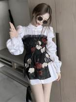 Fashion suit Summer 2020 S. M, average size Flower bra, shirt 18-25 years old Other / other