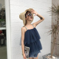 Vest sling Summer of 2018 Picture color Average size singleton  Straight cylinder commute camisole Solid color 18-24 years old 96% and above