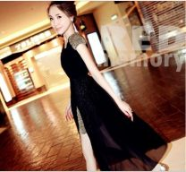 Dress Spring of 2018 black M,L,XL Middle-skirt Fake two pieces Sleeveless commute Crew neck Solid color Socket Irregular skirt Others 18-24 years old Korean version 81% (inclusive) - 90% (inclusive) Chiffon