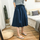 skirt Spring 2020 Average size commute High waist A-line skirt Solid color Type A Other / other cotton Korean version