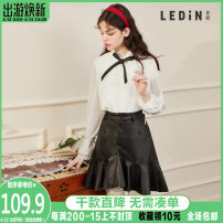 skirt Winter of 2019 L,S,M Black, pink Short skirt High waist Irregular Solid color 18-24 years old CWGE94894 More than 95% Leting other