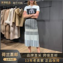 skirt Summer 2020 S, M For more new offers, please add V: yymp7777, color matching Mid length dress Versatile Other / other