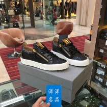 Low top shoes Black ru70001 Huabei payment plus 1% handling charge Huabei payment + 1% 39.5 42.5 Giuseppe Zanotti Cattle hide (except cattle suede) zipper Round head Casual shoes top layer leather Europe and America daily Solid color
