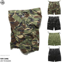 Casual pants Hong Kong tide Youth fashion Basic color (black, gray, white, etc.) M,L,XL,2XL routine Pant Other leisure Straight cylinder No bullet 806# summer youth tide 2017 Medium low back Straight cylinder Cotton 95% other 5% Overalls Embroidered logo Make old camouflage Khaki cotton cotton