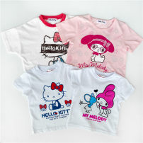 T-shirt Pink skirt Merlot, white Kitty, white BB Merlot, white BB Kitty, white BB Dingdang, blue BB Dingdang Other / other 80cm, 90cm, 95cm, 100cm, 110cm, 120cm, 130cm, add to the shopping cart, order and enjoy 2 bags female summer Short sleeve Crew neck solar system No model nothing other Class B