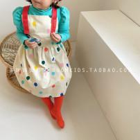 Dress Balloon skirt, blue t female Other / other 80cm,90cm,100cm,110cm,120cm,130cm Other 100% spring and autumn Korean version Strapless skirt other cotton Strapless skirt 12 months, 18 months, 2 years old, 3 years old, 4 years old, 5 years old, 6 years old, 7 years old, 8 years old