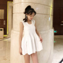 Dress Summer of 2019 white S,M,L Short skirt singleton  Sleeveless Sweet other High waist Solid color Socket Princess Dress other camisole 25-29 years old Type A More than 95% knitting other princess