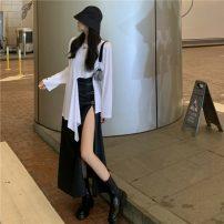 Fashion suit Spring 2021 S. M, l, average size White T-shirt, skirt 51% (inclusive) - 70% (inclusive)
