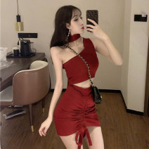 Fashion suit Spring 2021 Average size Red, black 18-25 years old Other / other 31% (inclusive) - 50% (inclusive) polyester fiber