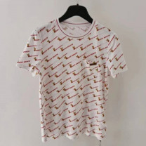 T-shirt white 2 / s, 3 / m, 4 / L, 5 / XL Summer 2021 Short sleeve Crew neck Self cultivation Regular routine commute cotton 51% (inclusive) - 70% (inclusive) Simplicity originality Pinge Dixin