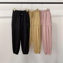 Casual pants Black, yellow, pink M,L,XL,XXL Summer 2020 trousers Haren pants Natural waist routine 18-24 years old 30% and below Other / other other