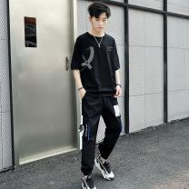 T-shirt other White, black, khaki routine 3XL,2XL,XL,L,M Others Short sleeve Crew neck easy Other leisure summer GR pants suit youth tide 2021 lattice polyester fiber Geometric pattern Fashion brand 70% (inclusive) - 79% (inclusive)