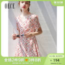Dress Summer of 2019 Beige XS S M L Short skirt singleton  Short sleeve commute V-neck High waist Dot Socket A-line skirt routine 25-29 years old Oece lady 192FS456 More than 95% other Other 100% Same model in shopping mall (sold online and offline)