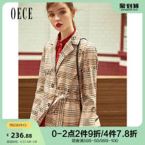 suit Autumn of 2019 Light coffee XS S M L Long sleeves routine Self cultivation tailored collar routine lattice 193HR206 25-29 years old 96% and above polyester fiber Oece Polyester fiber 98.1% polyurethane elastic fiber (spandex) 1.9% Same model in shopping mall (sold online and offline)