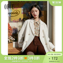 skirt Spring 2021 XS S M L Coffee Short skirt commute High waist A-line skirt Solid color 25-29 years old Oece lady Same model in shopping mall (sold online and offline)