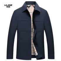 Jacket Lilanz / LiLang Business gentleman Grey, Navy M,L,XL,2XL,3XL thin Self cultivation Other leisure Four seasons Polyurethane elastic fiber (spandex) 88% polyamide fiber (nylon) 12% Long sleeves Wear out Lapel Business Casual youth routine Single breasted 2021 No iron treatment Loose cuff