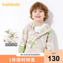 Plain coat Bala male 90cm 100cm 110cm 120cm 130cm Coffee green color 0354 summer leisure time Zipper shirt There are models in the real shooting routine No detachable cap Broken flowers cotton other Cotton 100% other Spring 2021