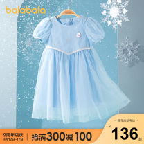 Dress Blue gray 00382 white gray 00312 ice and snow female Bala 90cm 100cm 110cm 120cm 130cm Polyamide fiber (nylon) 100% summer leisure time Long sleeves other nylon A-line skirt other Summer 2021 Three years old, four years old, five years old, six years old and seven years old