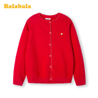Sweater / sweater 130cm 140cm 150cm 160cm 165cm 170cm cotton female China Red 6620 Bala leisure time No model Single breasted routine Crew neck nothing Ordinary wool other Cotton 100% Class B Long sleeves Spring 2020 spring and autumn Chinese Mainland