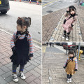 Dress Yellow, black, pink female Little Huanglong 90cm,100cm,110cm,120cm,130cm Other 100% winter solar system Skirt / vest Solid color corduroy Lotus leaf edge HT1854 Class B 12 months, 18 months, 2 years old, 3 years old, 4 years old, 5 years old, 6 years old, 7 years old, 8 years old