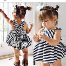 Dress White, Navy Stripe female Other / other 73cm,80cm,90cm,100cm,110cm,130cm,140cm Other 100% summer Europe and America Skirt / vest stripe Strapless skirt 3 months, 12 months, 6 months, 9 months, 18 months, 2 years old, 3 years old, 4 years old, 5 years old, 6 years old, 7 years old