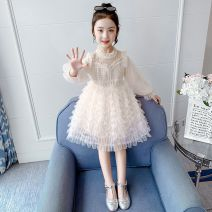 Dress female Other / other It is suggested to take one size bigger according to normal height for 100, 110, 120, 130 and 140 Other 100% spring and autumn Korean version Long sleeves Solid color other Cake skirt A7B2E40711 Class A Chinese Mainland