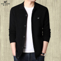 Jacket Youngor Fashion City Gray, camel, black, brown routine standard Home spring Wool 100% Long sleeves Wear out Lapel tide middle age routine Single breasted 2020 Cloth hem No iron treatment Closing sleeve Solid color Woollen cloth Embroidery Side seam pocket wool More than 95%