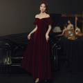 Dress / evening wear Weddings, adulthood parties, company annual meetings, daily appointments S M L XL XXL claret grace longuette middle-waisted Autumn 2020 A-line skirt One shoulder zipper 18-25 years old LF983033 Solid color Royal fashion bishop sleeve Polyester 100% Pure e-commerce (online only)