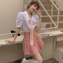 Fashion suit Summer 2021 S. M, l, average size Color tie, shirt, pink pleated skirt 18-25 years old 51% (inclusive) - 70% (inclusive)
