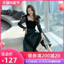 skirt Autumn 2020 S M L black Mid length dress commute Natural waist A-line skirt Solid color 25-29 years old L 4403 More than 95% nanoampere  polyester fiber belt Polyester 100% Pure e-commerce (online only)