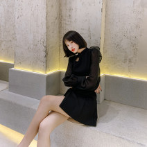 Fashion suit Autumn 2020 S M L black 25-35 years old nanoampere  LL 35390 51% (inclusive) - 70% (inclusive) spandex Viscose fiber (viscose fiber) 65.4% polyamide fiber (nylon fiber) 29.8% polyurethane elastic fiber (spandex fiber) 4.8% Pure e-commerce (online only)