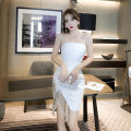 Dress / evening wear Wedding party date S M L white sexy Short skirt High waist Spring 2021 Short buttocks Chest type zipper 26-35 years old L 9264 Sleeveless Solid color nanoampere  other Polyester 100% Pure e-commerce (online only) 96% and above