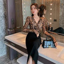 Fashion suit Autumn 2020 S M L XL XXL Leopard Print 25-35 years old nanoampere  L 4186 81% (inclusive) - 90% (inclusive) spandex Polyamide fiber (nylon) 94.5% polyurethane elastic fiber (spandex) 5.5% Pure e-commerce (online only)