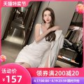 Dress / evening wear Party company annual meeting date S M L white sexy Short skirt High waist Autumn 2020 Short buttocks Sling type zipper 26-35 years old L 9253 Sleeveless Solid color nanoampere  other Polyester 100% Pure e-commerce (online only) 96% and above