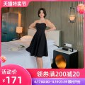 Dress Summer 2020 black S M L Mid length dress singleton  Short sleeve commute square neck High waist Solid color zipper other bishop sleeve Others 30-34 years old Type A nanoampere  Retro Hollow ribbon gauze L 3896 91% (inclusive) - 95% (inclusive) polyester fiber Pure e-commerce (online only)