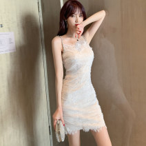 Dress / evening wear Wedding, adulthood party, performance, daily appointment S M L White black sexy Short skirt High waist Summer 2021 Short buttocks Sling type zipper 26-35 years old L 3930 Sleeveless Solid color nanoampere  other Polyester 100% Pure e-commerce (online only) 96% and above