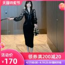 Dress / evening wear Wedding party daily appointment S M L black sexy Medium length High waist Autumn 2020 A-line skirt Deep collar V Deep V style 26-35 years old L 4205 Long sleeves Solid color nanoampere  routine Polyester 100% Pure e-commerce (online only) 96% and above