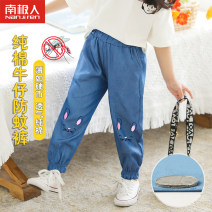 trousers NGGGN female 100cm 110cm 120cm 130cm 140cm Light blue rabbit light blue cat cowboy blue rabbit cowboy blue cat summer trousers leisure time There are models in the real shooting Casual pants Leather belt middle-waisted cotton Don't open the crotch Cotton 100% NFD7T1085 NFD7T1085 Summer 2020