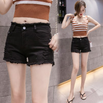 Jeans Spring 2021 White, black 25,26,27,28,29,30,31,32 shorts High waist Knickerbockers routine 18-24 years old 51% (inclusive) - 70% (inclusive)